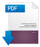 Download a PDF of Good medical practice: a code of conduct for doctors in Australia
